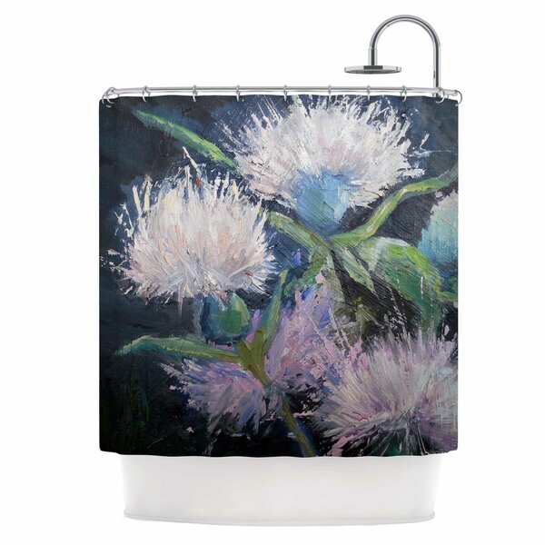Thistle Love Shower Curtain by East Urban Home
