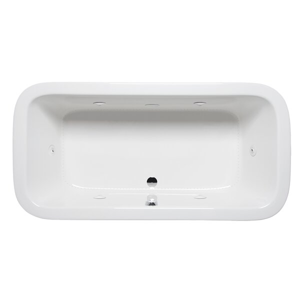 Nerissa 66 x 34 Drop in Whirlpool Bathtub by Americh