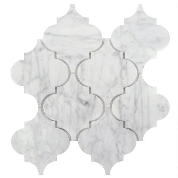 5 x 6 Marble Arabesque Wall & Floor Tile