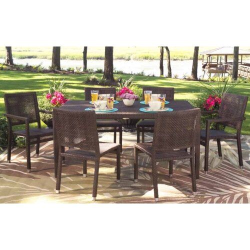 All-Weather 7 Piece Dining Set by Whitecraft