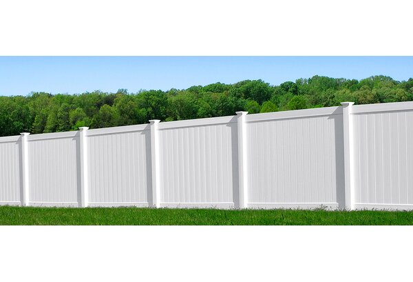 6 ft. H x 6 ft. W Heavy Duty Rainier Privacy Fence Panel with Post by Vinyl Fence Wholesaler