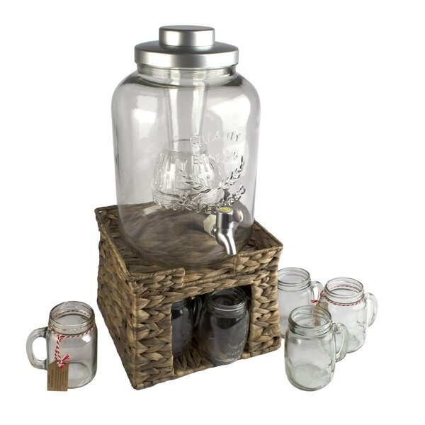 Pollina 10-Piece Beverage Dispenser Set by Beachcrest Home
