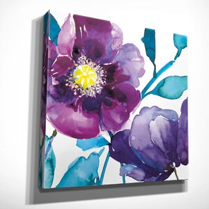 'Royal Blooms II' by Harrison Ripley Framed Painting Print on Wrapped Canvas by Wexford Home