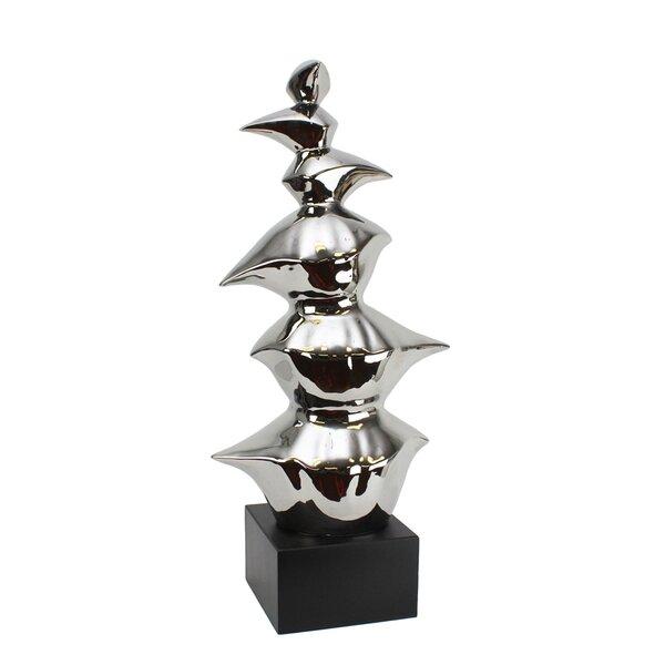 Trommler Elegant Ceramic Abstract Sculpture by Orren Ellis