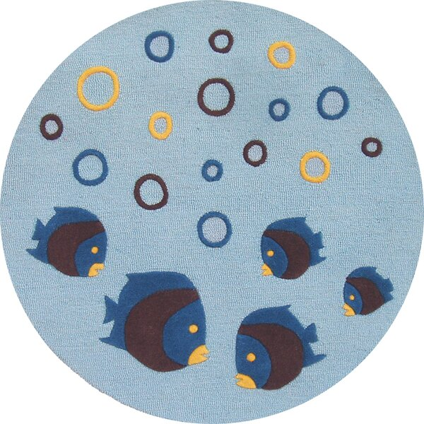 Kalyn Aquarium Light Blue Area Rug by Zoomie Kids