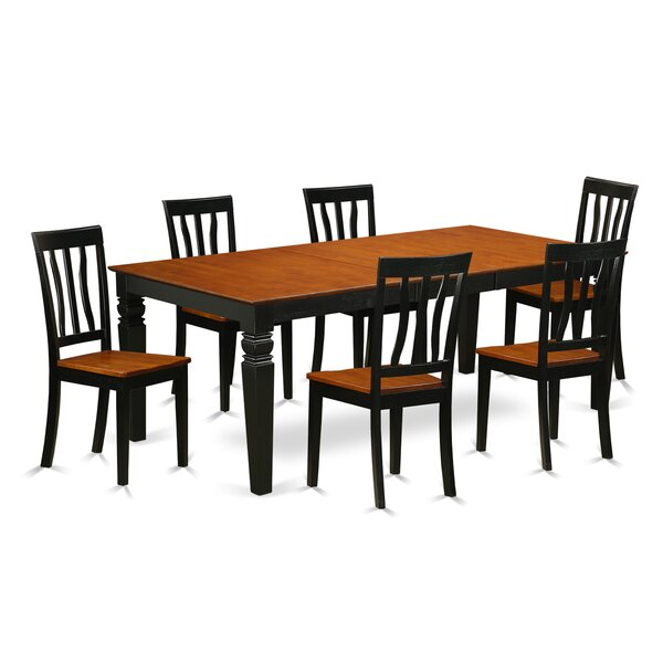 Beesley 7 Piece Extendable Solid Wood Dining Set by Darby Home Co