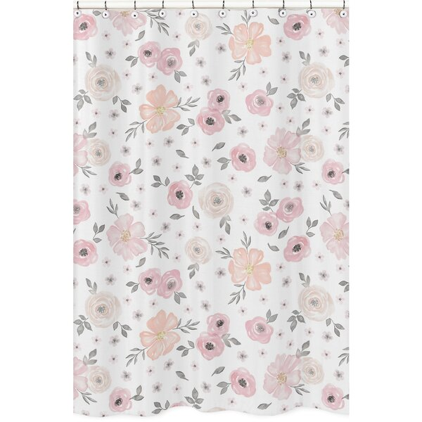 Watercolor Floral Shower Curtain by Sweet Jojo Designs