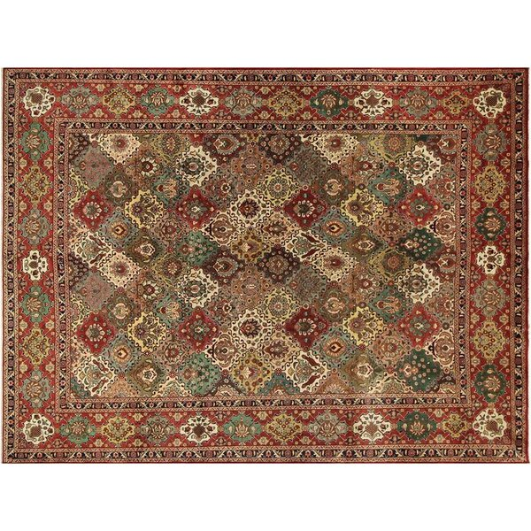 Barkhampstead Hand-Knotted Wool Red Area Rug by Bloomsbury Market