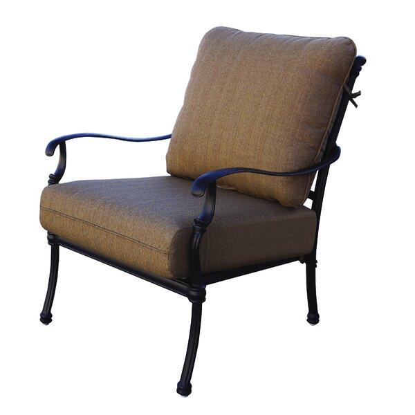 Battista Patio Chair with Cushion (Set of 2) by Fleur De Lis Living