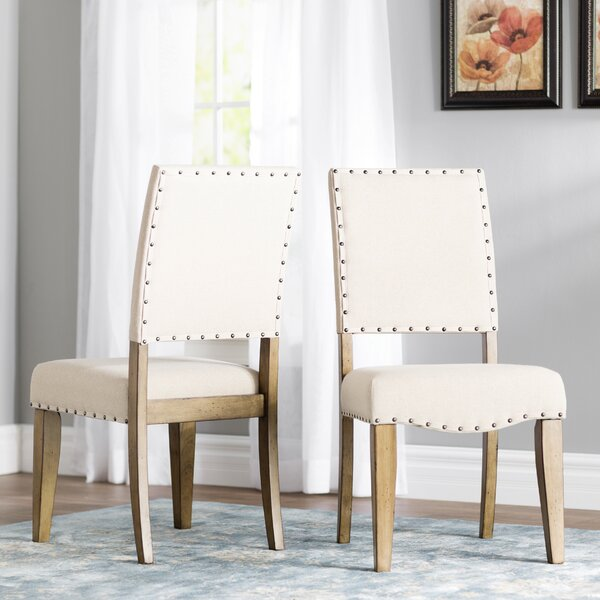 Kennemer Upholstered Dining Chair (Set of 2) by Three Posts