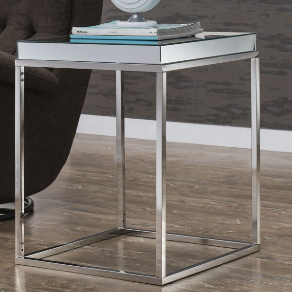 Emerita Wood Top End Table by Rosdorf Park