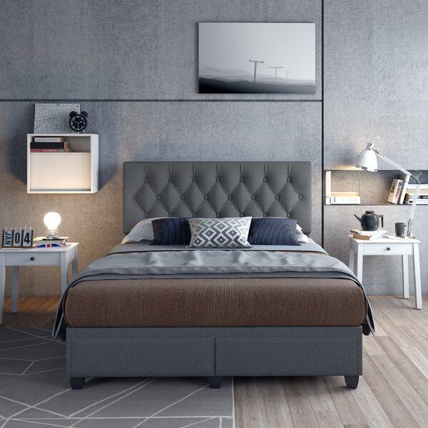 Upper Shockerwick Linen Queen Upholstered Storage Platform Bed by Canora Grey