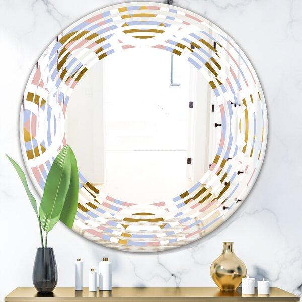 Wave Geometric Shapes Modern Wall Mirror