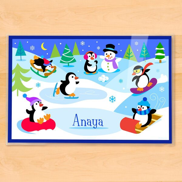 Winter Penguins Personalized Placemat by Olive Kids