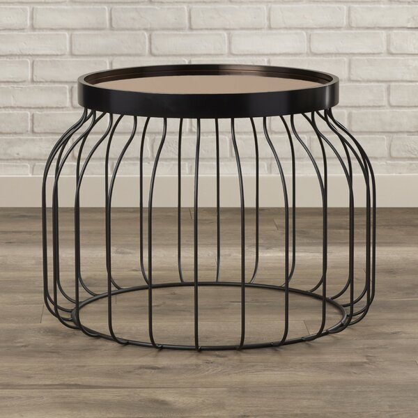 Cutlip Bird Cage Tray Table by Mercury Row