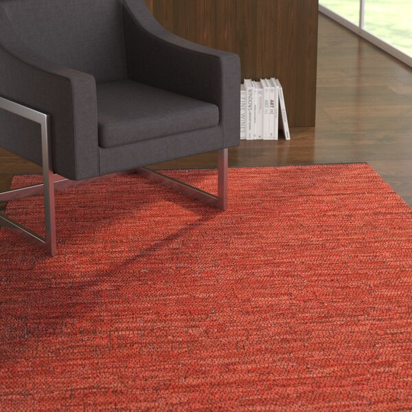 Sandford Flatweave Cotton Maroon Area Rug by Latitude Run