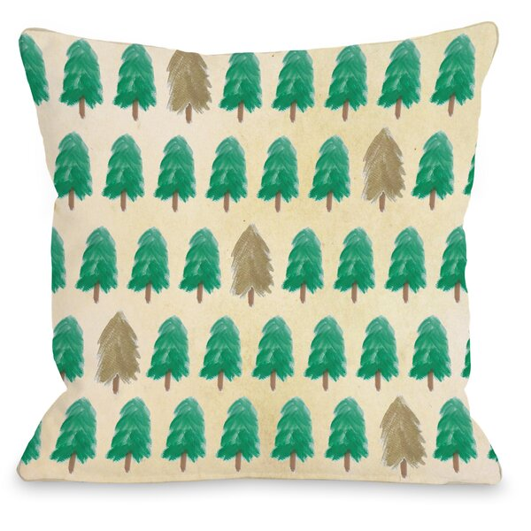 Forest for the Trees Throw Pillow by One Bella Casa