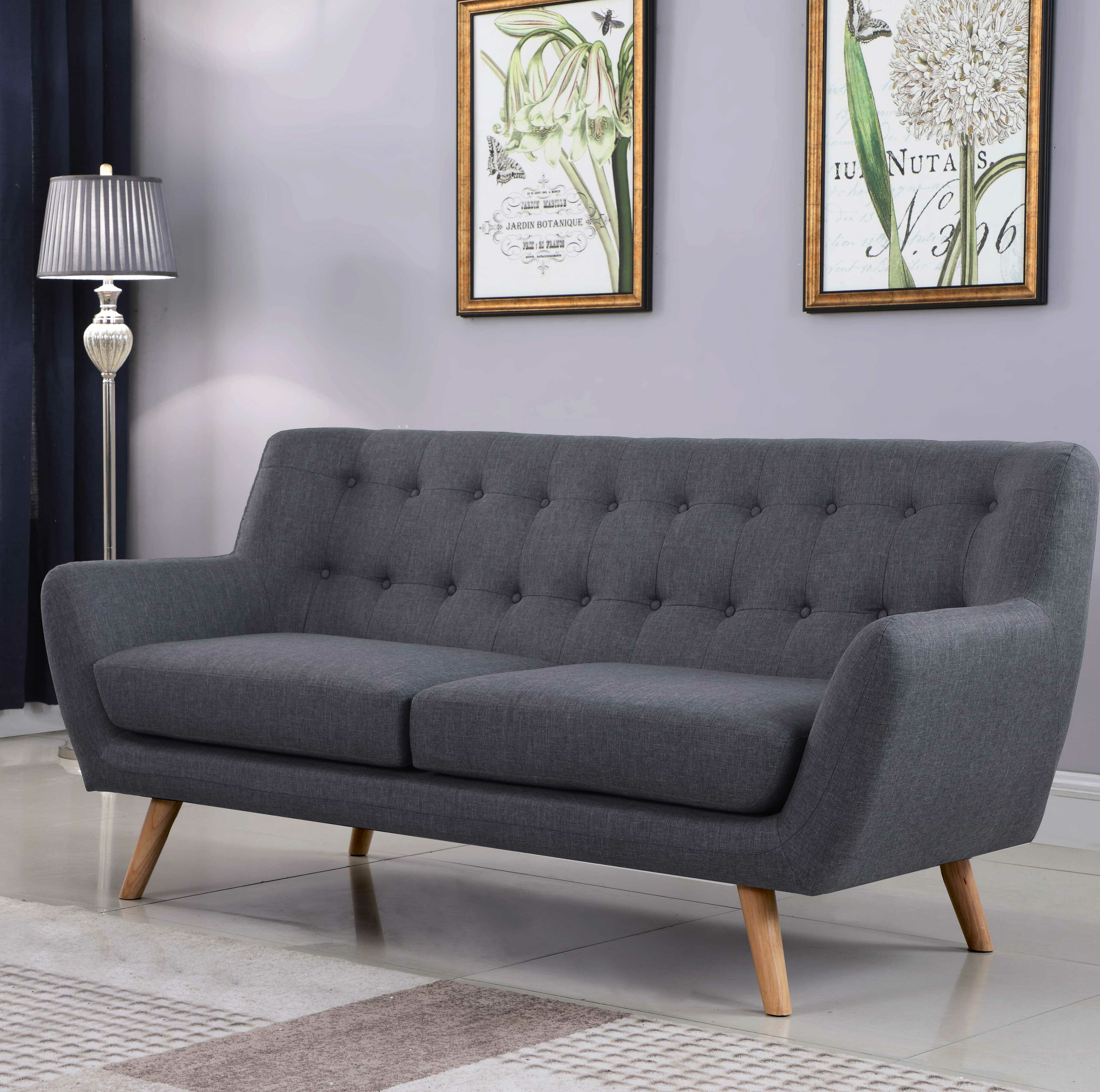 George Oliver Zaragoza Mid Century Sofa U0026 Reviews | Wayfair