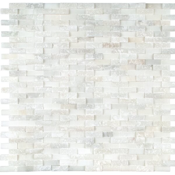 Greecian Splitface Marble Mosaic Tile in White by MSI