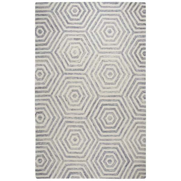 Malcolm Hand-Tufted Wool Light Gray Area Rug by Corrigan Studio