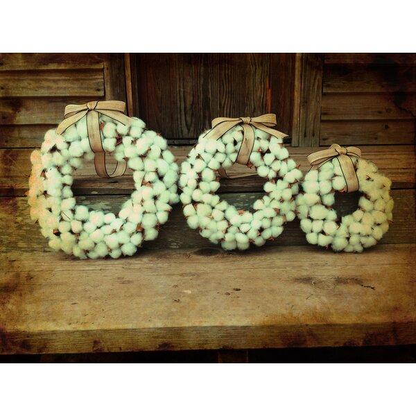 Faux Cotton 3 Piece Wreath Set by Gracie Oaks