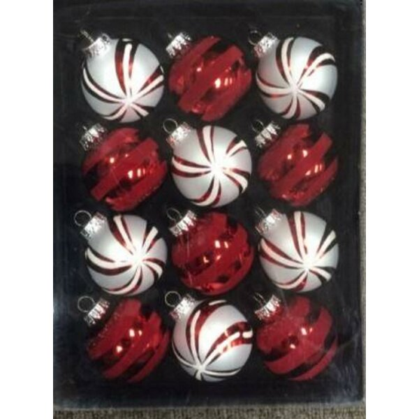Decorated Ball Ornament (Set of 12) by The Holiday Aisle