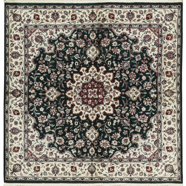 One-of-a-Kind Chinese Hand-Knotted Wool Green/Ivory Indoor Area Rug by Bokara Rug Co., Inc.