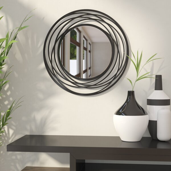 Fluent Round Wall Mirror by Wade Logan