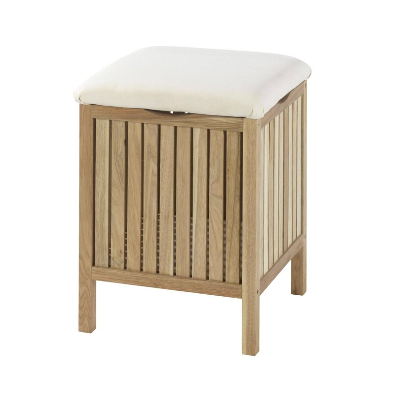 Hampton Maegan Wood Bathroom Stool