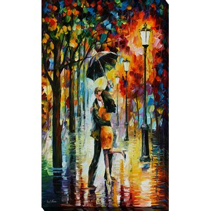 Dance Under the Rain by Leonid Afremov Painting Print on Wrapped Canvas by Picture Perfect International