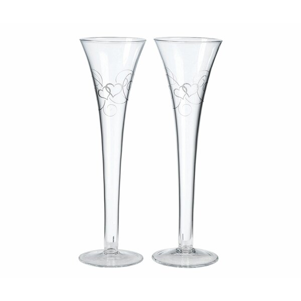 Double Heart Champagne Flute (Set of 2) by Lillian Rose