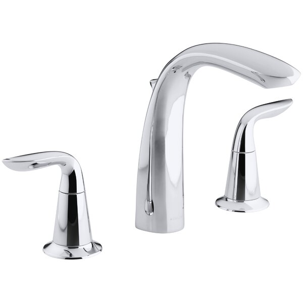 Refinia Bath Faucet Trim with High-Arch Diverter Spout and Lever Handles, Valve Not Included by Kohler