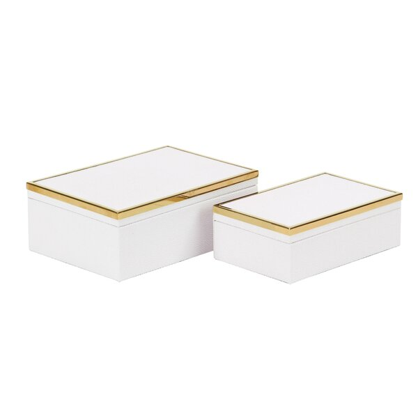 Cato Modern 2 Piece Decorative Box Set by Rosdorf Park