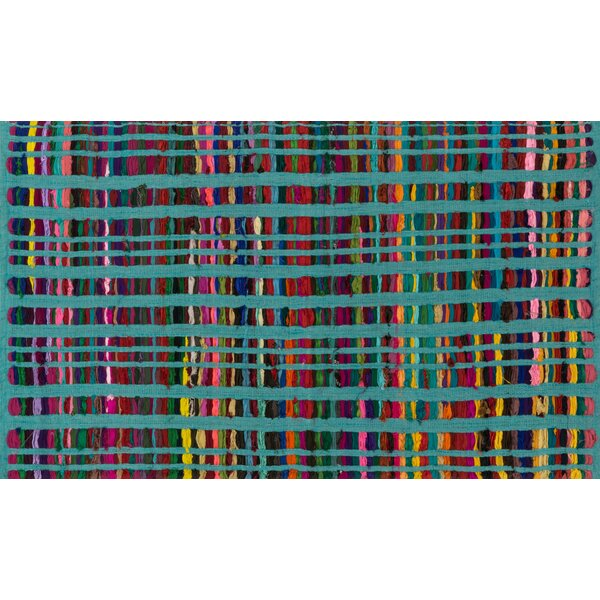 Choate Hand-Woven Turquoise Area Rug by Ebern Designs
