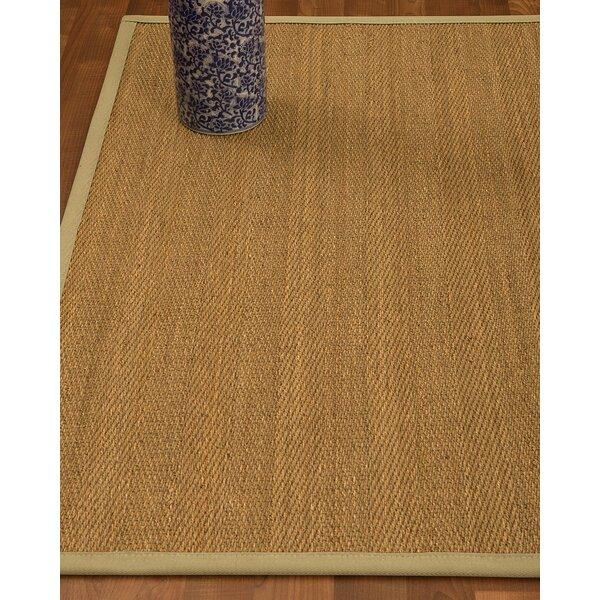 Heidenreich Border Hand-Woven Beige/Sand Area Rug by Bloomsbury Market