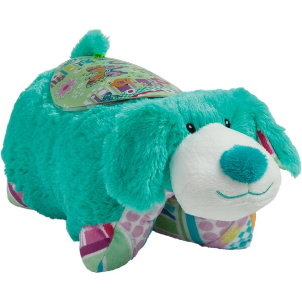 Sleeptime Lite Colorful Teal Pup Plush Night Light by Pillow Pets
