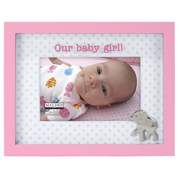 Our Baby Girl Elephant Picture Frame by Malden