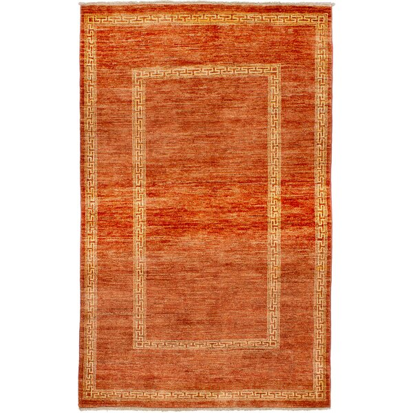 One-of-a-Kind Alasdair Hand-Knotted Wool Dark Copper Area Rug by Isabelline