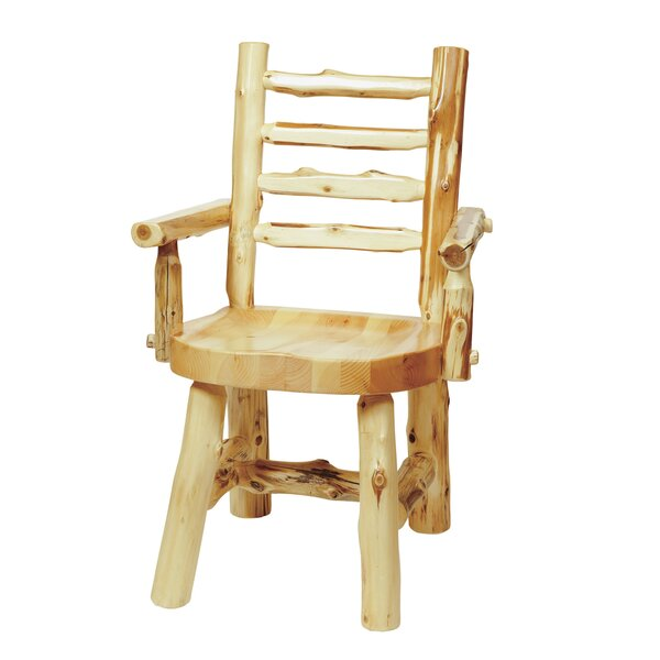 Traditional Cedar Log Armchair by Fireside Lodge