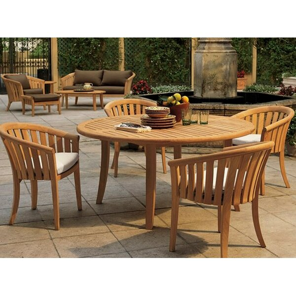 Isaak 5 Piece Teak Dining Set by Rosecliff Heights