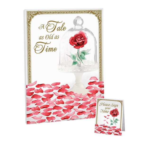 Fairy Tale Rose Petal Signing Guest Book by Lillian Rose