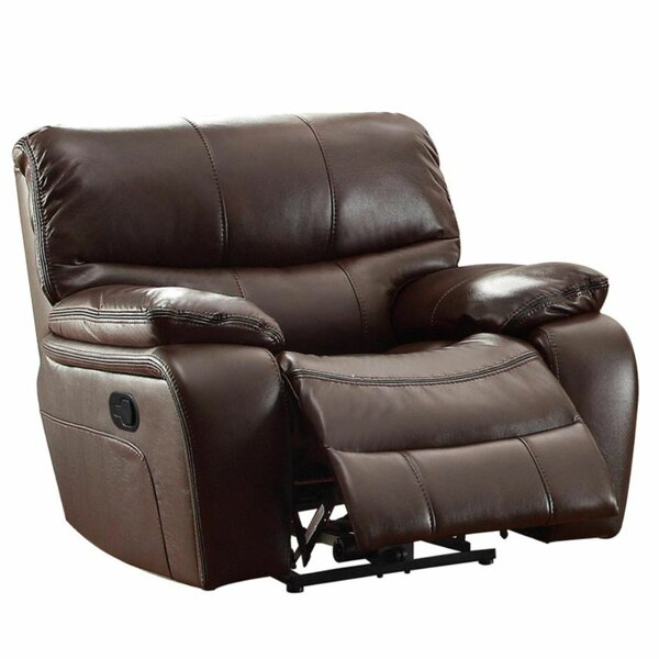 Hembree Faux Leather Manual Glider Recliner BNZC4637