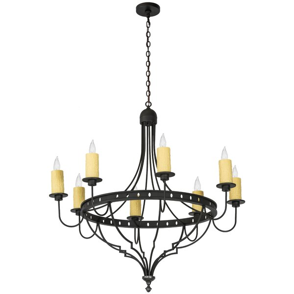 Behling 8 - Light Candle Style Empire Chandelier by Fleur De Lis Living Fleur De Lis Living