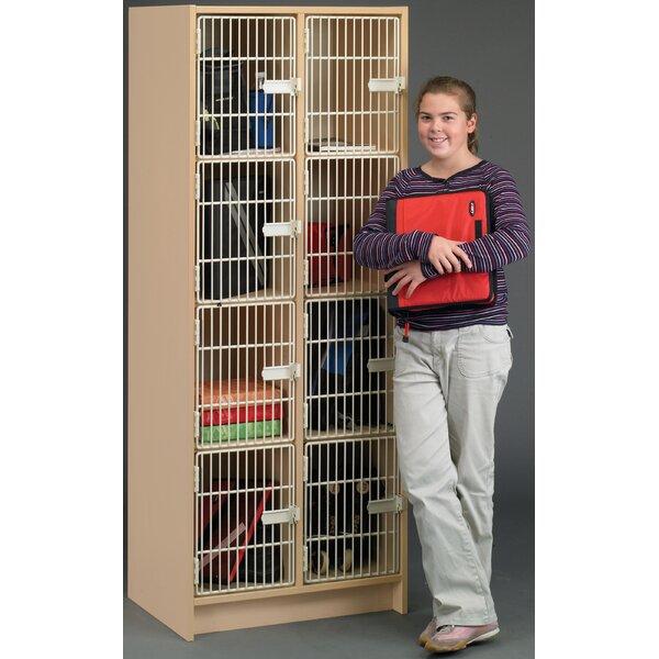 2000 Series 4 Tier 2 Wide Storage Lockers by TotMate