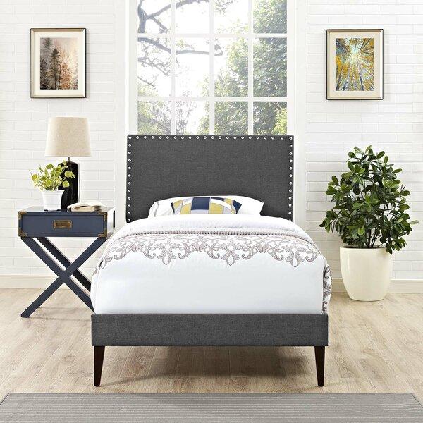 Hervey Upholstered Platform Bed Charlton Home FOW4844