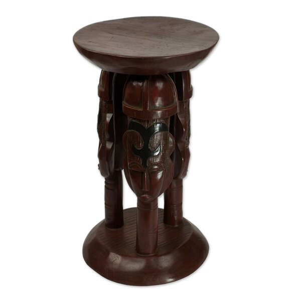 Saginaw United Family Cedar Wood Accent Stool by Bloomsbury Market