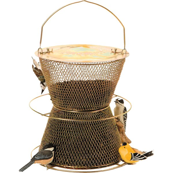 Hourglass Caged Nyjer/Thistle Feeder by Sweet Corn Products Llc