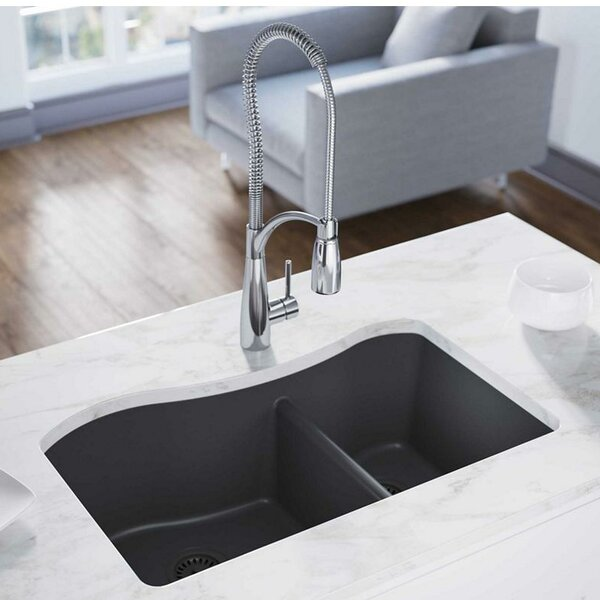 Quartz Classic 33 x 20 Double Basin Undermount Kitchen Sink by Elkay