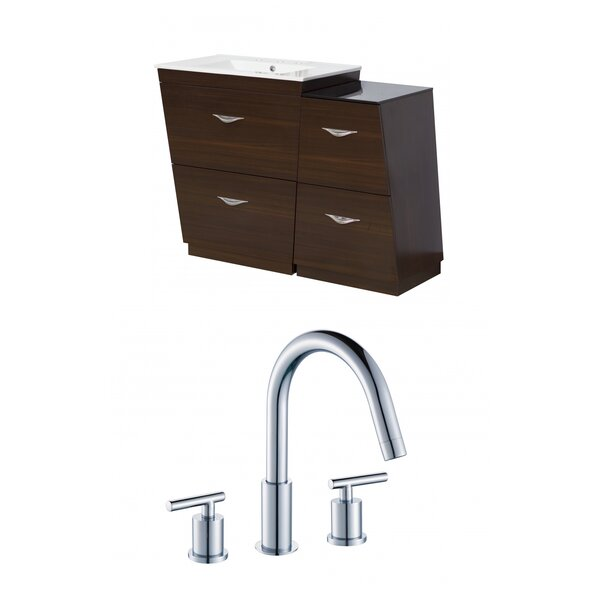 Kao Modern Floor Mount 41 Single Bathroom Vanity Set