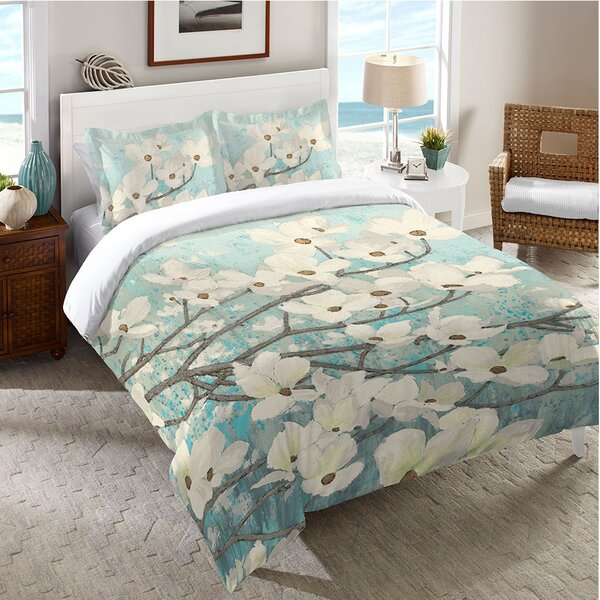 Pelaez Dogwood Blossoms Comforter by Latitude Run